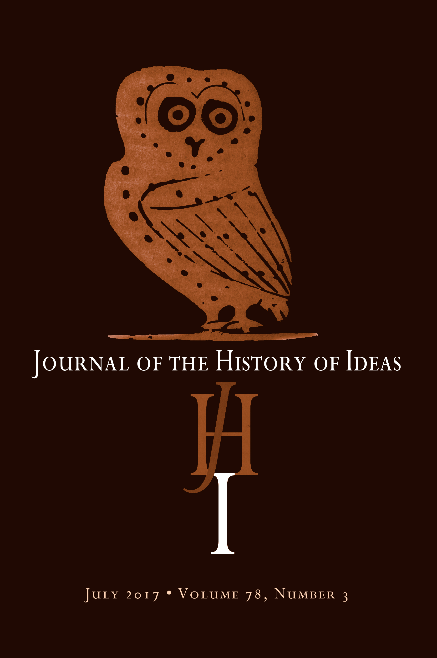 Journal of the History of Ideas October 2020 Volume 81.4